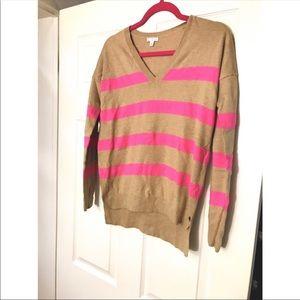 🆕 Gap V- Neck Oversized Striped Sweater XS